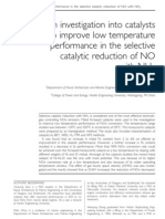 An Investigation Into Catalysts to Improve Low Temperature Performance in the Selective Catalytic Reduction of NO With NH3