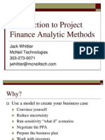 Project Finance Analitic Methods