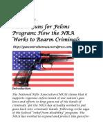 NRA's Guns for Felons Program