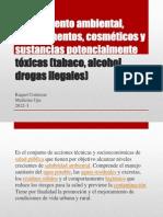Saneamiento ambiental, medicamentos, cosméticos y sustancias
