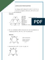 Ejercicios Propuestos Angulos en La Circunferencia