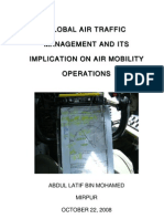 Global Air Traffic Management and Its Implication on Air Mobility Operation