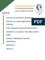 MÉTODOS DE RECOLECCIÓN DE DATOS.