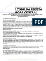 TCHAYKA - Grande Tour da Rússia e Europa Central 2013 - folheto