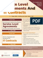 Service Level Agreements and IT Contracts