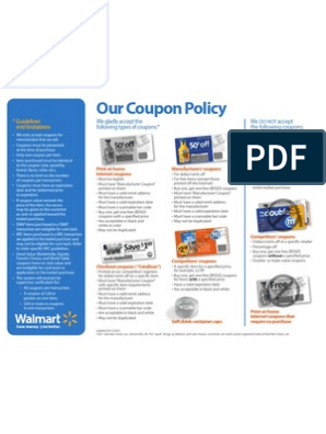 Wm Coupon Policy