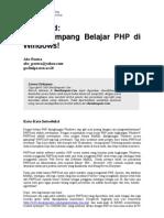 Cara Gampang Bellajjar PHP di WINDOWS.pdf