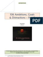 106 Ambitions, Goals & Distractions - Part 3