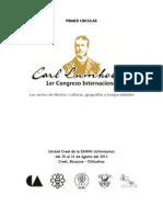 Convocatoria 1er. Congreso Internacional Carl Lumholtz