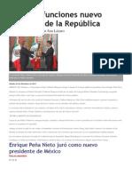 Nuevo Presidente e México-desde el 1 de dic. 2012