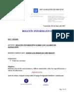 SE016-2007 Valores deAlineación todos los Modelos