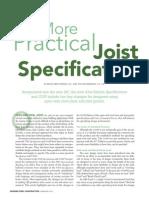 A More Practical Joist Spec - MSC