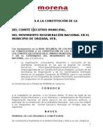Convocatoria Municipal MORENA Orizaba