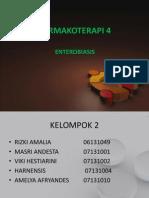FARMAKOTERAPI 4 Enterobiasis