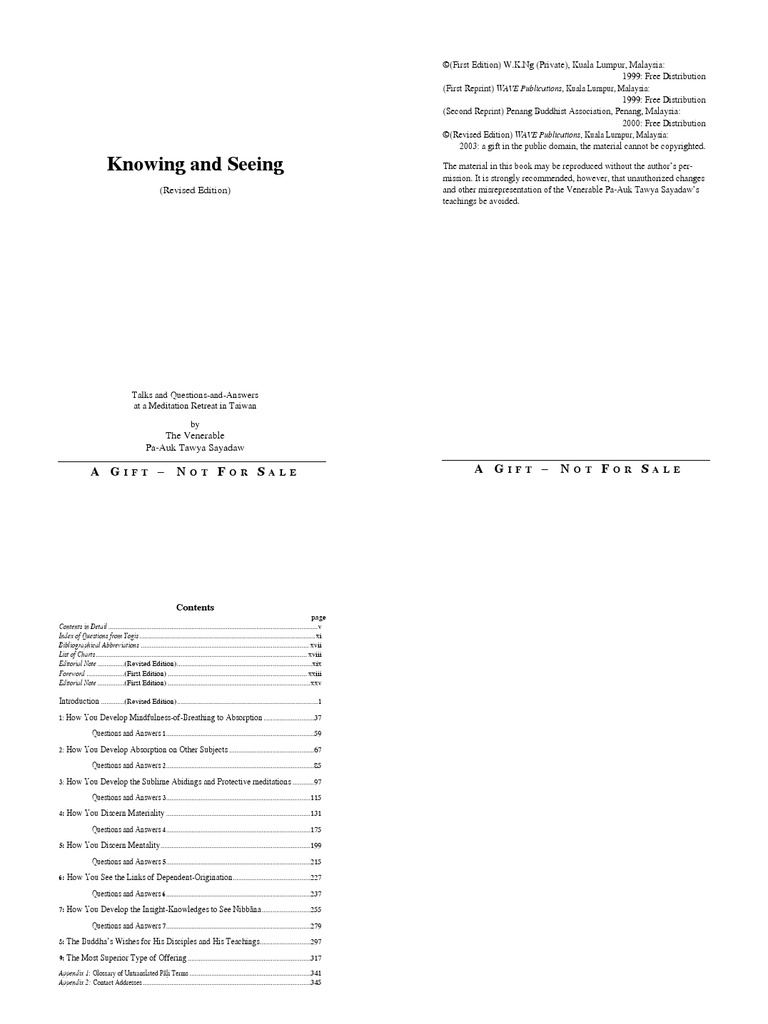 Knowing and Seeing (Revised Edition)