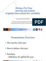 Luigi Boschetti - Defining a fire year for reporting and analysis of global inter-annual fire variability