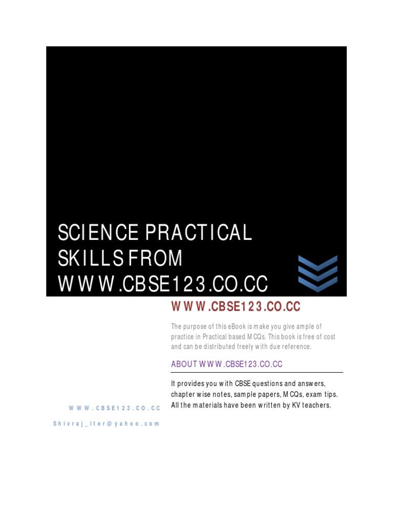 CBSE CLASS X MCQS PRACTICAL BASED   Lens (Optics)   Multiple