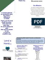 2013 HPES Volunteer Brochure