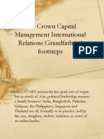 The Crown Capital Management International Relations Grandfathers' footsteps