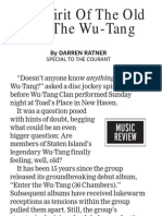 Wu-tang Show Review