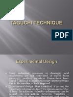 Taguchi Technique