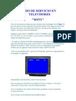 Modo de Servicio en Televisores