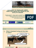 Danielle Martin - Assessment of grassland curing using field-based spectrometry and satellite imagery