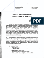"Tej R. Kansakar, ""Lexical and Syntactic Causatives in Newari"""