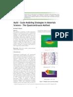 Multiscaling Modeling Strategies Quasicontinuum Method