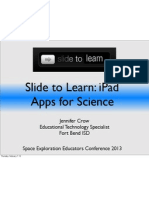 slide to unlock-ipad apps for science