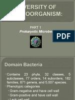Diversity of Microorganisms 1- Prokaryotic