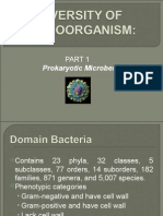 Diversity of Microorganisms 1- Prokaryotic