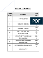 List of Contents, Tables & Graphs