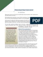 Beat Procrastination Now