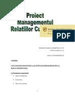 Proiect Managementul relatiilor cu clientii