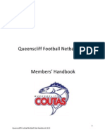 Queenscliff Football Netball Club Handbook 2013