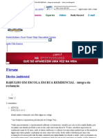 BARULHO EM ESCOLA EM RUA RESIDENCIAL - integra da reclamção - - Fórum Jus Navigandi