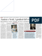 Austen e Scott, i genitori del romanzo secondo l'accademico americano Matthew L. Jockers - Corriere Della Sera 08.02.2013