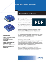 Bluetooth Printer Adapter Data Sheet English