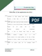 Guatemala Hoy 2012-09-12