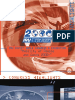 27th IRU World Congress - Brussels Highlights, 2000