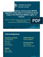 Medhavy Thankappan - Harmonic analysis of timeseries MODIS vegetation index data for monitoring winter crops in the Wimmera-Mallee region of Victoria