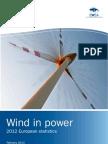 EU Wind Statistics 2012