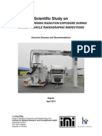 Scientific Study on External Ionising Radiation Exposure during Cargo / Vehicle Radiographic Inspections