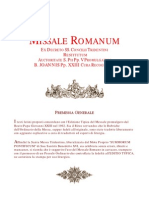 Messale Romano Vetus Ordo