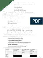 Português 7º. 8º e 9º gramática nomes, adjectivos, determinantes e pronomes
