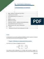 Les Determinants Des Matrices