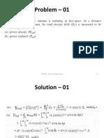 ECE307 Antenna Engineering Class Numerical Problems – 01-10
