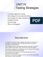 Unit IV Testing Pune University SRES COE