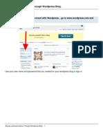 Buying a Domain Name Through Wordpress Blog